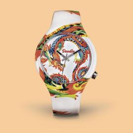 Reloj Doodle White Dragon