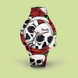 Reloj Doodle Skull & Roses