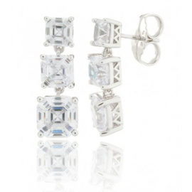 Pendientes Camaleoni White 3 Multifaces