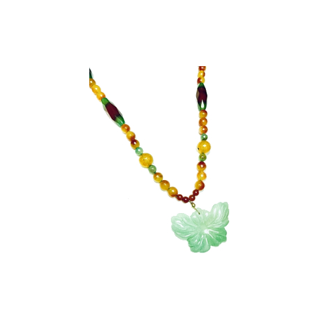 Collar Agatha Verde Mariposa