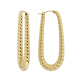 Pendientes Elongated Mini Rope Hoop Soave Oro