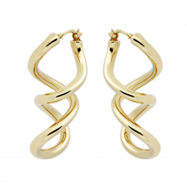 Pendientes Double Twist Dangle Soave Oro