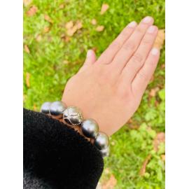 Pulsera Plata y Perlas Japonesas